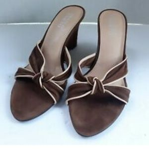 Franco Sarto Women Brown Wedge Heels Suede 7.5 M